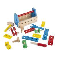 Melissa & Doug Take-Along Wooden Tool Kit 24 Piece Construction Toy Playset