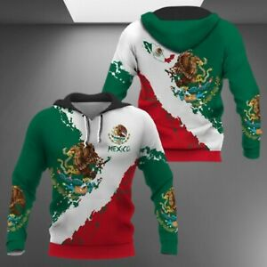 Mexico Hoodie Unisex Hoodie Zip 3D Print Gif For Dad Size M-3XL