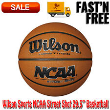 "Wilson Sports Ncaa Street Shot 29.5"" Basketball, Balls, Synthetic Leather, Brown"