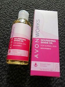 AVON 'WORKS' NOURISHING SHAVE OIL WITH VITAMIN E, FOR BODY & LEGS 150ML