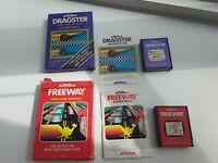 Atari 2600 Dragster + Freeway Both CIB Box, Manual, Game. Complete. Working.