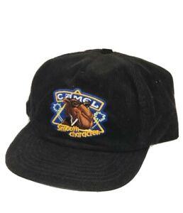 Vintage CAMEL Snapback Trucker Hat Cigarette Cap Corduroy