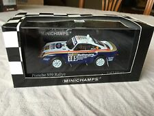 Minichamps Porsche 959 Rallye 1986 Paris Dakar, Rothmans in 1/43 scale diecast