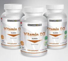 Vitamine D3 10000iu Haut Résistance 10,000iu 3 x 365 Bouteilles Tablettes D GB