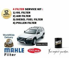 FOR VOLVO XC70 2.4D 163bhp 8/2002-> OIL AIR FUEL POLLEN FILTER SERVICE KIT OE