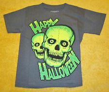 C-Life Group Little Boys' Halloween Skull Tee,Charcoal,Size 5-6,100% Cotton,Tee