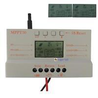 LCD 10A 20A 30A MJмT Solar Panel Battery Regulator  Controller 12V/24V CE #Jм