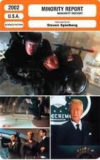 FICHE CINEMA : MINORITY REPORT - Cruise,Farrell,Capshaw,Harris,Spielberg 2002
