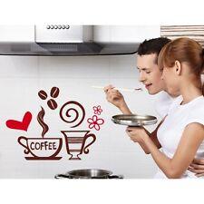 00496 Wall Stickers Adesivi murali colazione Coffee drinks 02 50x37cm