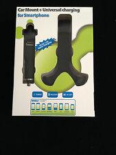Universal Car Mount + USB Charging Dock for Smartphones iPhone Samsung Nokia HTC