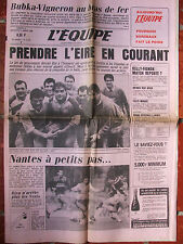 L'Equipe du 2-3/3/1985 Rugby : Irlande France - Ch Tiozzo - Foot : Nantes