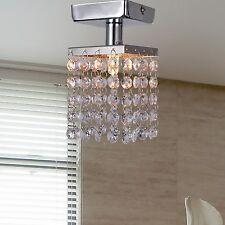 Crystal Chandelier Ceiling Light Pendant Lighting Chrome for Living Room Bedroom