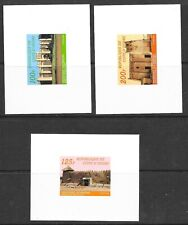 IVORY COAST Sc 739A-C NH DELUXE SHEETS 1985 -BUILDINGS -Sc FOR REGULAR SET $420