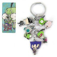 Invader Zim Alien Robot Dog Suit Gir Keychain keyring Key chain Pendant Charm