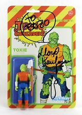SIGNED LLOYD KAUFMAN THE TOXIC AVENGER SUPER7 REACTION TOXIC CRUSADERS VARIANT