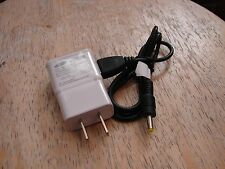 5v wall power supply with barrel size 4mm OD x 1.7mm ID white with black cord