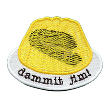 Stapler In Jello Dammit Jim! Embroidered Iron On Patch