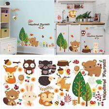 Jungle Nursery Mural Home Decor Cartoon Animal Wall Stickers DIY Art Decal