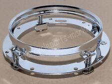 7 Inch Chrome LED Headlight Bracket Mount Ring For Harley Davidson Motorcyle USA