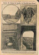 Poilus Barricade de Neuville-Saint-Vaast Bataille de l'Artois/Feldgrau  WWI 1915