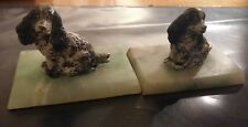 2 Cold painted Cocker Spaniels on Onyx bases