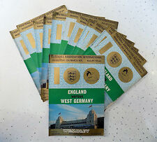 13 x England V West Germany Program played Wembley (100th International) 1975
