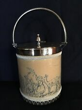 Doulton Lambeth Biscuit Barrel by Hannah Barlow