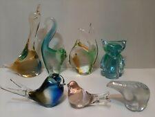 CHALET  ART GLASS  URANIUM FISH? CAT? - DAYS END BIRD-early unsiged.RHAG bear