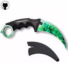 13 Colours CSGO Tactical Karambit Combat Knife Fixed Blade Hawkbill Neck Doppler