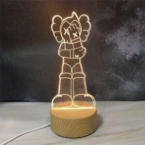Kaws Figure Bearbrick Astro Boy 3D Visual Lamp