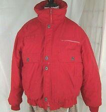 Obermeyer Coat Men's Medium Red Down Fill Zip up Winter Wear Jacket