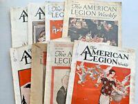 VINTAGE AMERICAN LEGION WEEKLY LOT 8 1924 - 1926