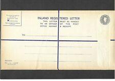 GB Postal Stationery 1957 QEII 1s 21/2d grey Registered Envelope size K H&B RP78