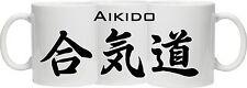 Aikido Mug-aikido en Japonais Kanji (caractères) imprimés tout autour de la tasse