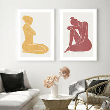 Abstract Poster Nordic Woman Body Wall Art Canvas Print Modern Home Decoration