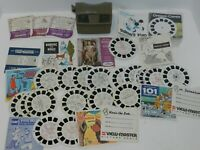 Huge Collection of GAF Brown View Master Stereoscope + 113 Reels & More