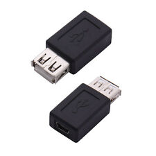 2pcs Standard USB 2.0 A Female to Mini B 5-Pin Data Cable Adapter Female
