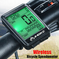Wireless LCD Digital Cycle Computer Bicycle Bike Backlight Speedometer Odometer