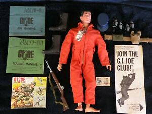 Vintage Early GI Joe action Marine 1964 Hasbro *Excellent* + Accessories