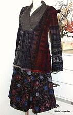 IVKO Long-Pullover Shawl Collar Motive Serbien grau rot Schal-Kragen 52606