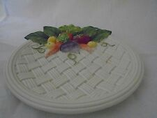Fitz & Floyd Vegetable Garden Basket Weave Plate 3 Dimensional 1995