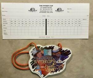 RYDER CUP - 1997 - Official Scorecard, Season Ticket