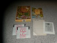 """Might and Magic Book One Apple II 5.25"""" disks with box & manual"""