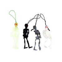 2Pcs Hanging Human Skeleton Decoration Halloween Party Scary Skull Decor Frt FE