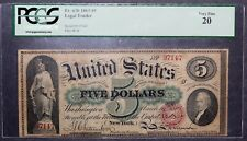 1863 $5 Legal Tender PCGS 20 Very Fine Fr. 63b