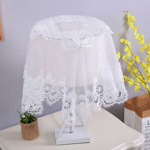Vintage Lamp Shades Cover Lace Embroidery Fabric Towel Home Lamp Decoration