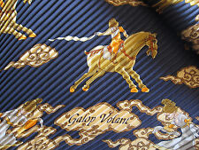 NWOT Auth Hermes Scarf 'Galop Volant'' 100% Plisse Pleated Silk 90cm