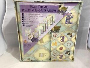 Baby Theme 8 1/2 X 11 Memories Album With Bonus Hard Cover Mini Photo Album