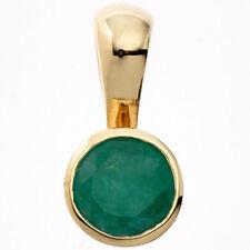 Unbehandelte Halsketten und Anhänger aus Edelsteinen mit Smaragd