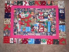 """CHRISTMAS QUILT TOP  34"""" x 24"""""""